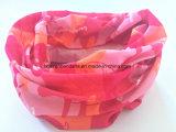 Het Embleem van de Douane van de Opbrengst van de fabriek drukte de Roze Tubulaire Sjaal van de Hals van de Polyester af