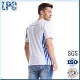 Maglietta su ordinazione degli uomini di modo del cotone di sport di alta qualità