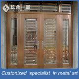 Metal da entrada principal da alta qualidade e porta dos vidros Tempered