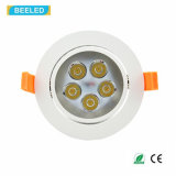 La alta calidad 5W refresca la luz blanca Dimmable LED Downlight del punto