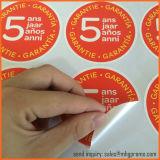 Escritura de la etiqueta auta-adhesivo