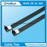 Laços de cabo de bloqueio de asa revestidos com PVC com melhor qualidade PVC Ss 304