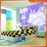 Масло Paiinting уличного фонаря и шаржа птиц для комнаты малыша