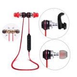 Deporte sin hilos estéreo magnético de los auriculares de Earbuds Bluetooth del metal que funciona con los receptores de cabeza bajos del auricular de la música de DJ con el Mic