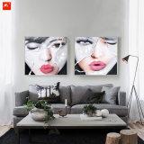 美しい女性の表面ハンドメイドの油絵