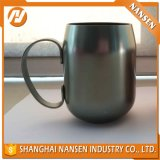 ハンドルのコーヒーカップが付いているカスタムカラーアルミニウムコップ