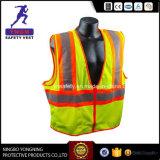 Roupa reflexiva alaranjada e azul do Workwear da segurança com a fita elevada da visibilidade