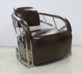 포도 수확에 의하여 솔질되는 스테인리스 관 팔걸이 거실 의자 Yh-317