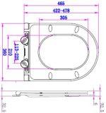 Ein Druckknopf-geschlossener vorderer runder Harnstoff-Toiletten-Sitzdeckel