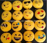 Hoofdkussen van het Stuk speelgoed van Smiley Emoticon van Emoji het Gele Ronde Zachte