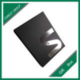 Black Matt Silver Foil Logo Caixa de presente impressa (FP8039117)