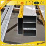Tube/pipe carrés en aluminium d'enduit de poudre avec des tailles personnalisées