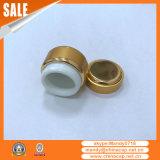 Großhandelsnagel-Gebrauch-goldenes Aluminiumsahneglas mit Kappe