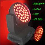 2016熱い販売36PCS*18W 6in1 LED移動ヘッドDJの照明