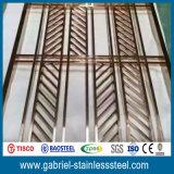 Divisorio interno dei portelli scorrevoli dell'acciaio inossidabile del metallo