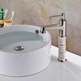 Plate-forme élevée de Flg intensifiant le taraud balayé par nickel en laiton de bassin de salle de bains