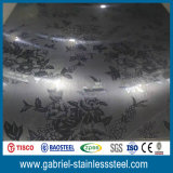 Hoja de acero inoxidable decorativa de Etcing de Rose del espejo revestido Titanium del oro