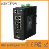 Interruptor de rede industrial da porta de Ethernet de 8 megabits