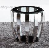 Tabella superiore di vetro del sofà della mobilia moderna dell'acciaio inossidabile (CT052L)