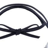 Ювелирные изделия ожерелья чокеровщика ворота диаманта Rhinestone перлы смычка кожи PU способа
