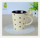 Taza de cerámica de Milka de la manera caliente de la venta con la cuchara