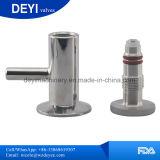 Válvula sanitaria de la muestra del acero inoxidable Ss304 Triclamp con la lengüeta del manguito