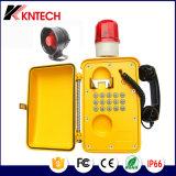 세륨 Cerficate를 가진 비바람에 견디는 VoIP 갱도 전화 Knsp-08 산업 전화