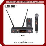 Microfone profissional do rádio da única canaleta da diversidade Ls601