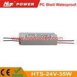 bloc d'alimentation imperméable à l'eau de la tension 24V-35W de l'interpréteur de commandes interactif continuel DEL de PC