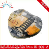 Specchio cosmetico reso personale decorato di trucco del metallo poco costoso
