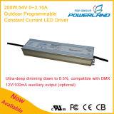 excitador impermeável do diodo emissor de luz da tensão constante programável ao ar livre de 200W 54V 0~3.15A