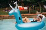 Flotteur bleu géant gonflable de syndicat de prix ferme de cerfs communs avec le fond de cuvette