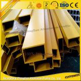 Profil carré en aluminium enduit de pipe de poudre avec des tailles et des couleurs personnalisées