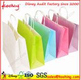 Sacchetti di acquisto del documento del regalo della maniglia di alta qualità/sacchetto promozionali dell'imballaggio