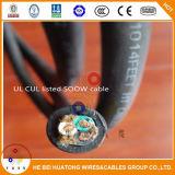 câbles d'alimentation portatifs flexibles 4X12AWG Soow de câble d'alimentation de l'UL 600V