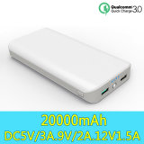 Быстро обязанность 3.0 18650 батарея External крена 20000mAh Powerbank силы