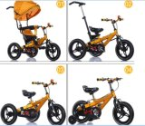 Tout le tricycle multifonctionnel de gosses d'alliage d'aluminium