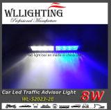Het LEIDENE Licht van de Waarschuwing met Steun voor de Adviseur van het Verkeer