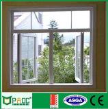 Ventana de aluminio del marco del perfil del estilo americano con el vidrio triple