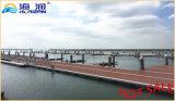 Dock flottant fabriqué par usine avec le ponton d'alliage d'aluminium