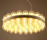 Lámpara de cristal redonda multi creativa moderna de la iluminación de la cafetería LED de la barra de la sala de estar del comedor de las lámparas de la pista LED