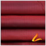 agua de 50d 280t y de la ropa de deportes tela tejida chaqueta al aire libre Viento-Resistente 100% del filamento del poliester del telar jacquar de la tela escocesa del diamante abajo (53115A)