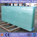 vidro 6-10mmtoughened geado gravado ácido usado como a porta do banheiro