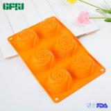 Fácil de usar, em forma de rosa, em forma de alimento, molde de silicone Premium