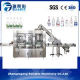 Purificación del agua automática de botella de cristal y embotelladora