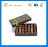 Caixa de presente de empacotamento de papel do cartão dourado (com divisor de papel)