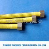 Tubo a gas rivestito giallo del metallo En15266