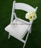 結婚のパッドを入れられた樹脂の折りたたみ椅子