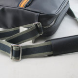 Herren PU Messenger Bag in Navy