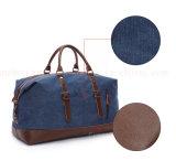 Подгонянный мешок багажа мешка Tote отдыха кожи холстины выдвиженческий